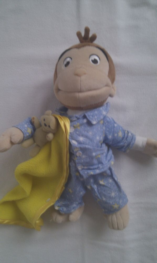 Adorable Rare Big Curious George Bedtime Musical Official